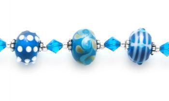 Designer Bead Medical Bracelets Aqua Bonanza 1574