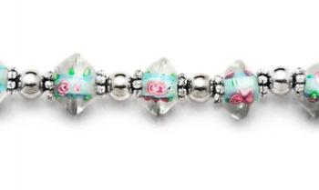 Designer Bead Medical Bracelets Crystal Aquazz 1645
