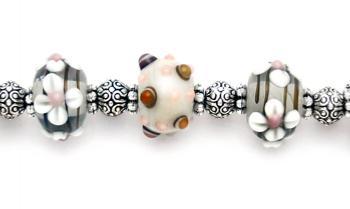 Designer Bead Medical Bracelets Kathys Autumn Flowers 1738