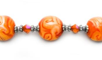 Designer Bead Medical Bracelets Orange Rush 1794