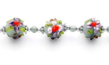 Designer Bead Medical Bracelets Flowers for a Lady 1870