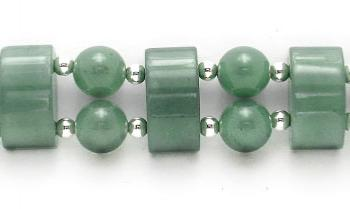 Designer Bead Medical Bracelets Domes of Jade Delight 1873