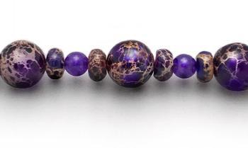 Medical ID Bracelet 1915 Purple Estasy by Artist Abbe Sennett