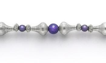 Designer Bead Medical Bracelets Purple Phase 1942