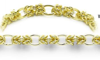 Designer Gold Medical Bracelets Bacio Oro 2034