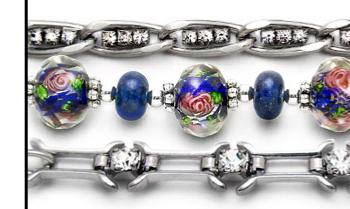 Designer Medical ID Bracelet Set Blue Meadow 1908