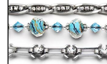 Designer Medical Bracelet Set of 3 Sizzle V Tri-Set 1987