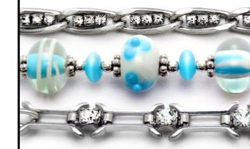 Medical ID Bracelet 9013-S Aqua, White & Beautiful Med Set - Artist Abbe Sennett