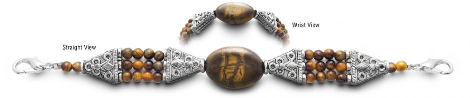 Designer Bead Medical Bracelets Tigers Eye 0108