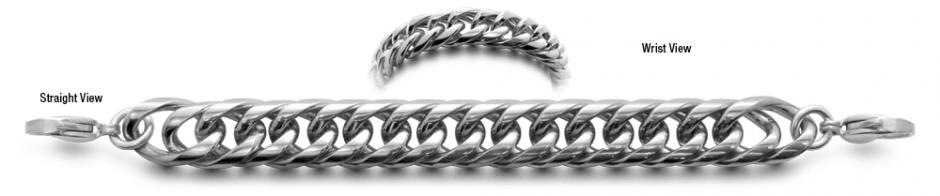 Designer Stainless Medical ID Bracelets Brillante 0220