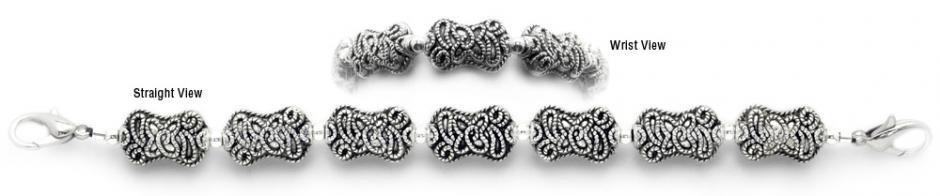Designer Bead Medical Bracelets Beauty of Free Form 0235