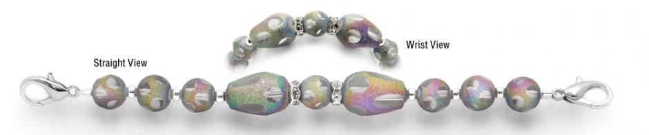 Designer Bead Medical Bracelets Shimmering Rainbows 0296