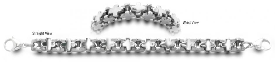 Designer Stainless Medical Bracelets Balestra 0357