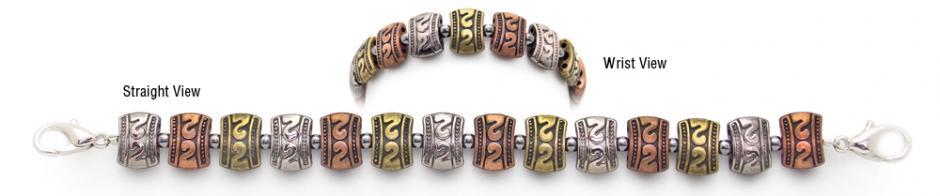 Designer Bead Medical Bracelets Rainbow Metallica 0374