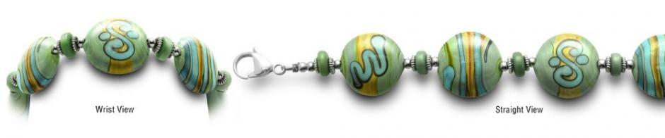 Designer Bead Medical Bracelets Fields of Green 0398