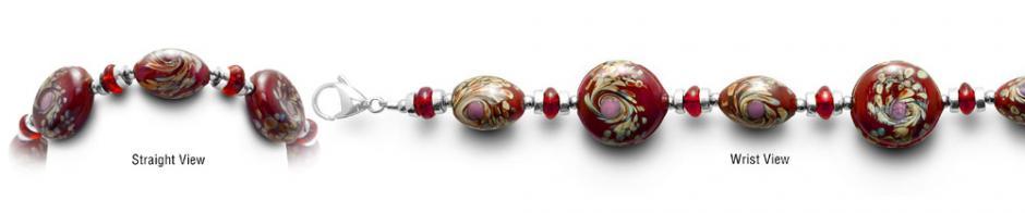 Designer Bead Medical Bracelets Red Star Spin 0401