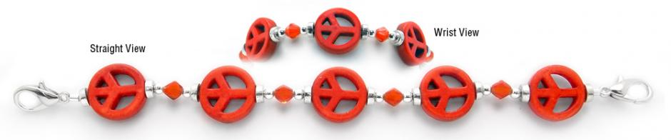 Designer Bead Medical Bracelets Peaceful World IV 0407