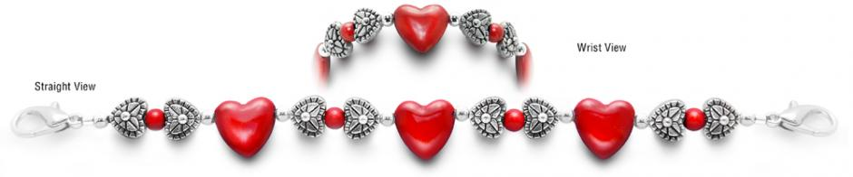 Designer Bead Medical Bracelets Hearts Content II 0409