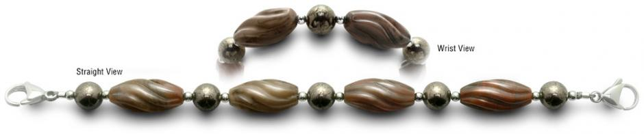 Designer Bead Medical Bracelets Swirl Twist 0421