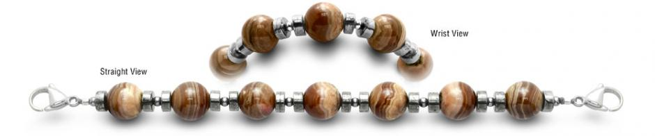 Designer Beaded Medical ID Bracelets Mocha Latte 0444
