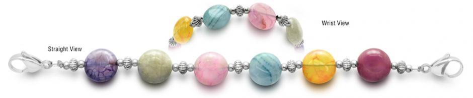 Designer Bead Medical ID Bracelets Lollipops 0451