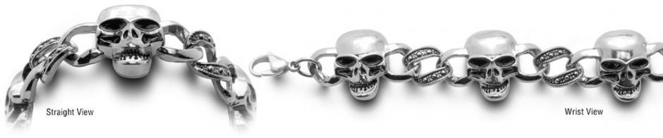 Designer Stainless Medical Bracelets Cranio di Grido 0511