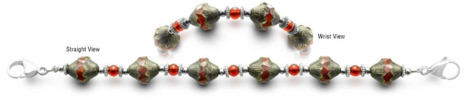 Designer Bead Medical Bracelets Clambake 0522