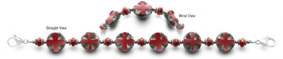 Designer Bead Medical Bracelets Cross Road 0524