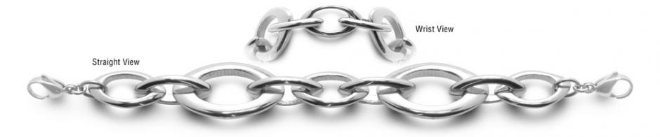 Designer Stainless Medical Bracelets Magia Ovale 0556
