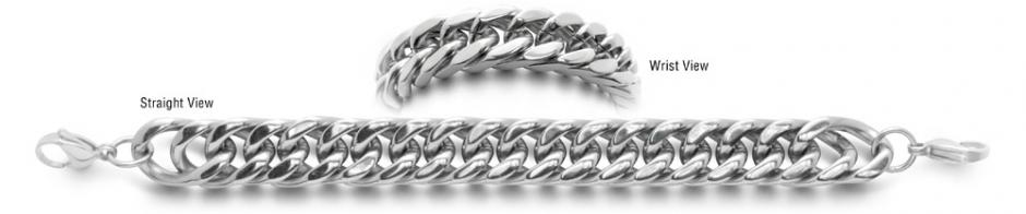 Designer Stainless Medical Bracelets Uomo Robusto 0557