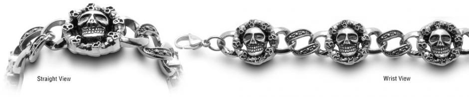 Designer Stainless Medical Bracelets Cranio Sorridente 0578