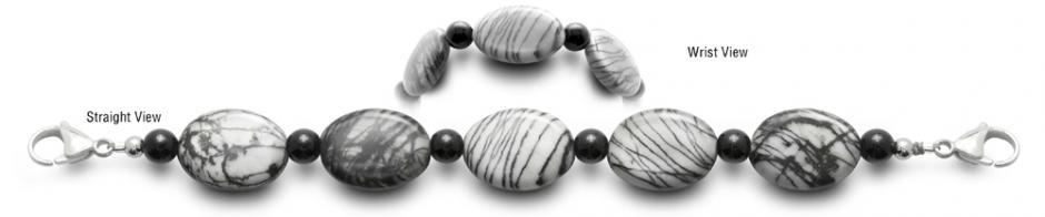 Designer Bead Medical ID Bracelets Scribbles 0640