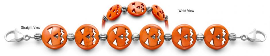 Designer Bead Medical ID Bracelets Scary Face 0645