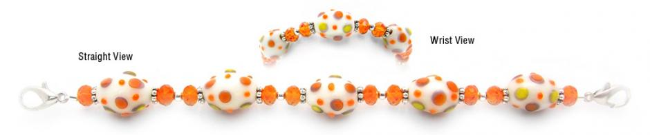 Designer Bead Medical Bracelets Orange Delight 0648