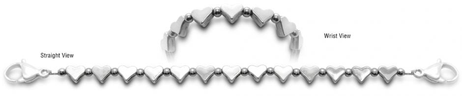 Designer Bead Medical ID Bracelets Heart Strings 0651