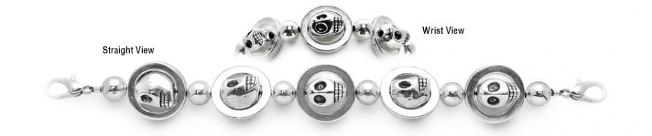 Designer Beaded Medical ID Bracelets Ghoulish Cool 0652