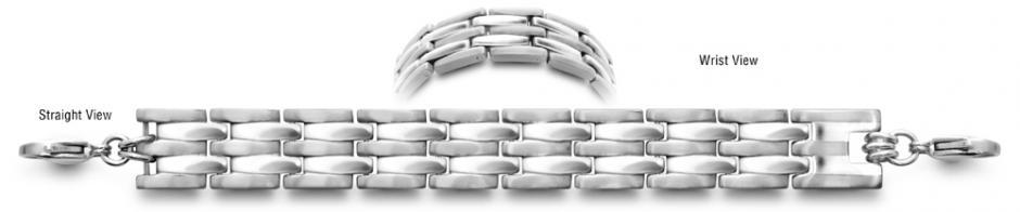 Designer Stainless Medical ID Bracelet Eccitare 0700