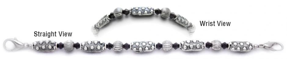 Designer Bead Medical Bracelets Silver Streak 0701