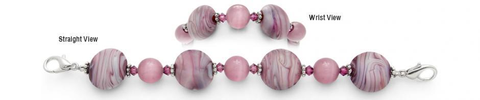 Designer Bead Medical Bracelets Plush Purple 0708
