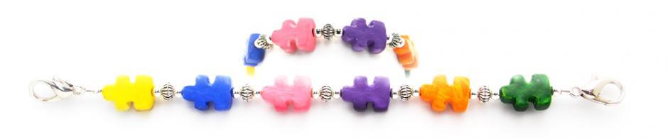 Designer Bead Medical Bracelets Puzzle Pride 0710