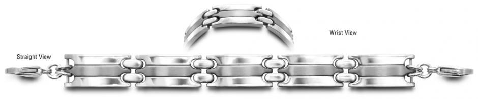 Designer Stainless Medical ID Bracelet Protegga 0711