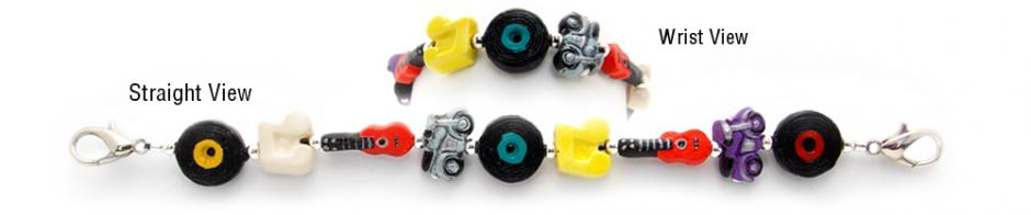 Designer Bead Medical Bracelets Retro World 0713