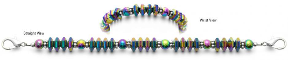 Designer Bead Medical ID Bracelets Rainbow Girl 0717