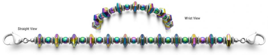 Designer Bead Medical ID Bracelets Color Pop 0720