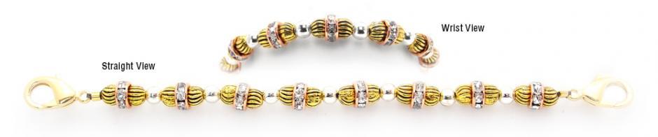Designer Bead Medical Bracelets Gold Rush 0722