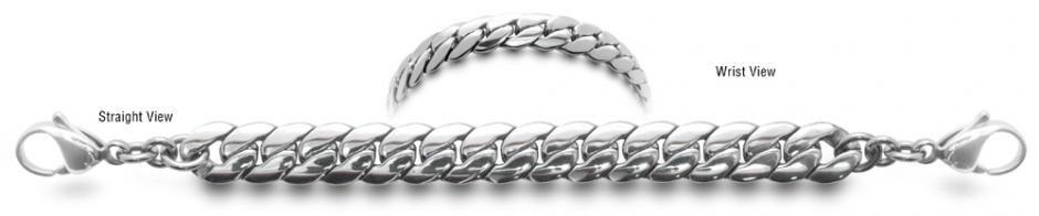 Designer Stainless Medical ID Bracelet Serico 0733