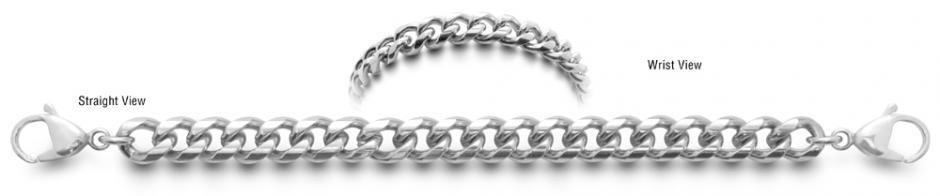 Designer Stainless Medical ID Bracelet Sicurezza 0744