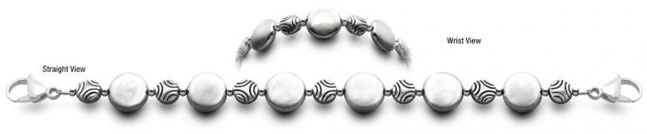 Full Moon 0781 Designer Bead Medical Alert ID Bracelets