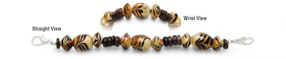 Designer Bead Medical Bracelets Cafe au Lait 0793