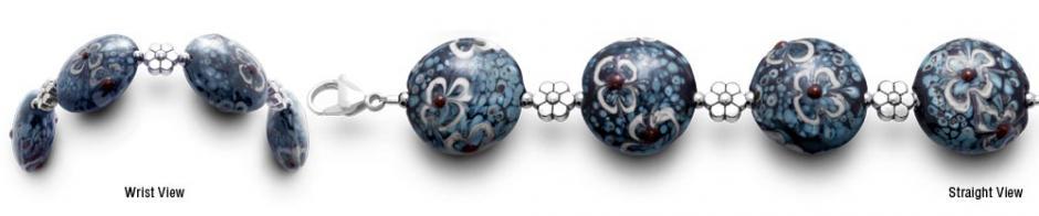 Designer Bead Medical ID Bracelets FleurBleue 0844